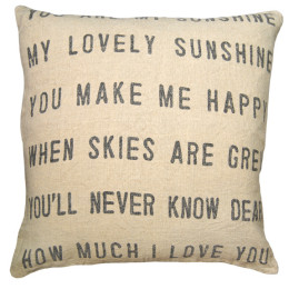 SUGARBOO PILLOW YOU ARE MY SUNSHINE