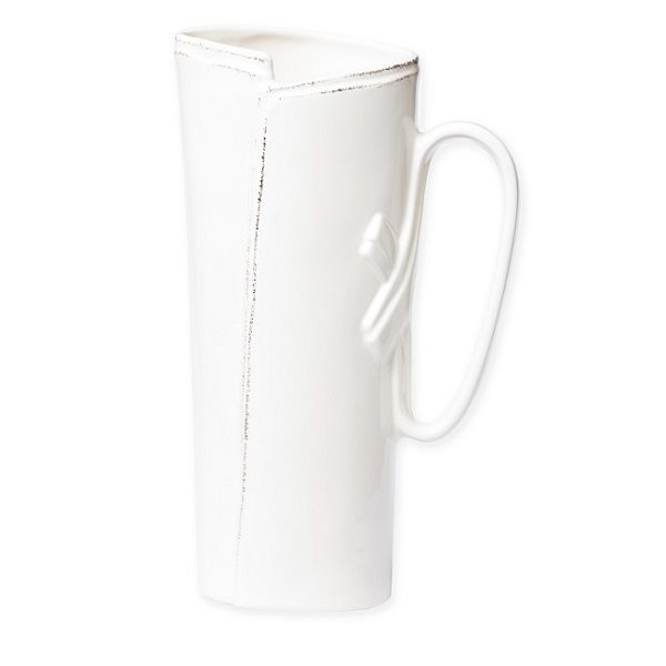 Vietri Lastra White Tavern Pitcher