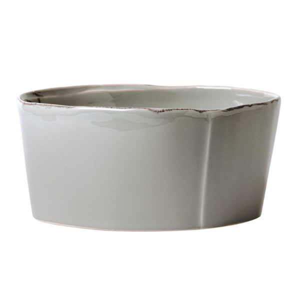 VIETRI LASTRA MEDIUM SERVING BOWL GRAY