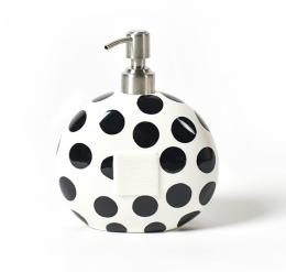 black dot mini soap pump