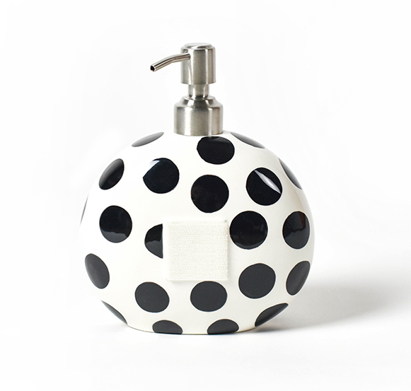 Happy Everything Black Dot Mini Soap Pump