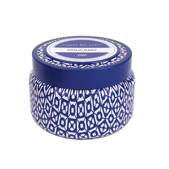 Capri Blue Printed Tin Candle- Volcano