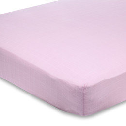 A+A CLASSIC CRIB SHEET SOLID PINK