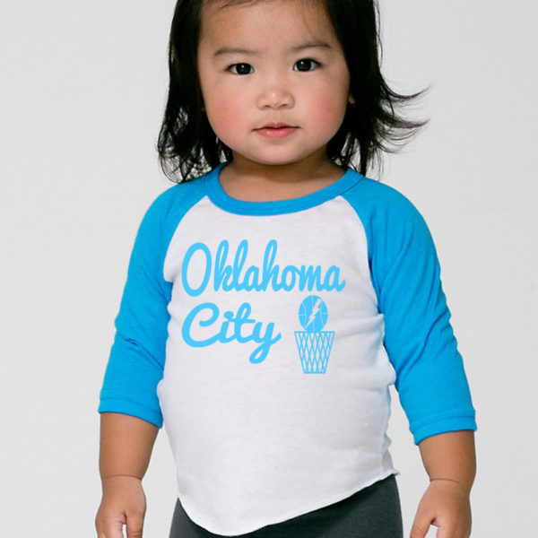 Oklahoma City Thunder Baseball Tee