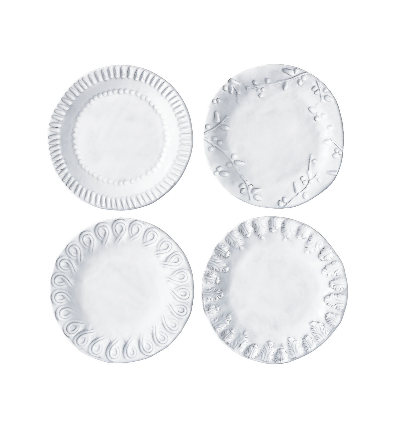 Vietri incanto assorted canape plates tulips for What is a canape plate