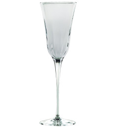 VIETRI OPTICAL GLASSWARE SMOKE CHAMPAGNE