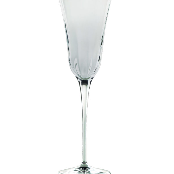 Vietri Glassware- Optical Smoke Champagne Glass