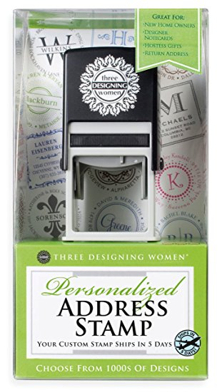 Three Designing Women – Custom Personalized Address Stamp