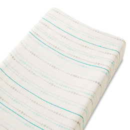 A+A  BAMBOO CHANGING PAD COVER AZURE BEADS