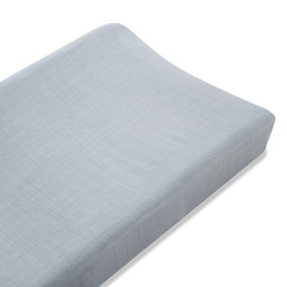 A+A  BAMBOO CHANGING PAD COVER MOONLIGHT SOLID GREY