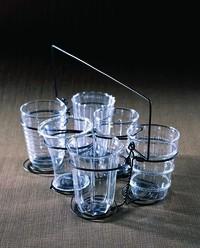 Dainty Glass Set With Caddy