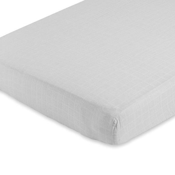 Aden + Anais Solid Grey Classic Crib Sheet