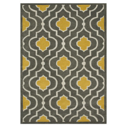 LOLOI BRIGHTON GOLD & GRAY RUG