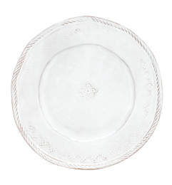 VIETRI BELLEZZA DINNER PLATE WHITE