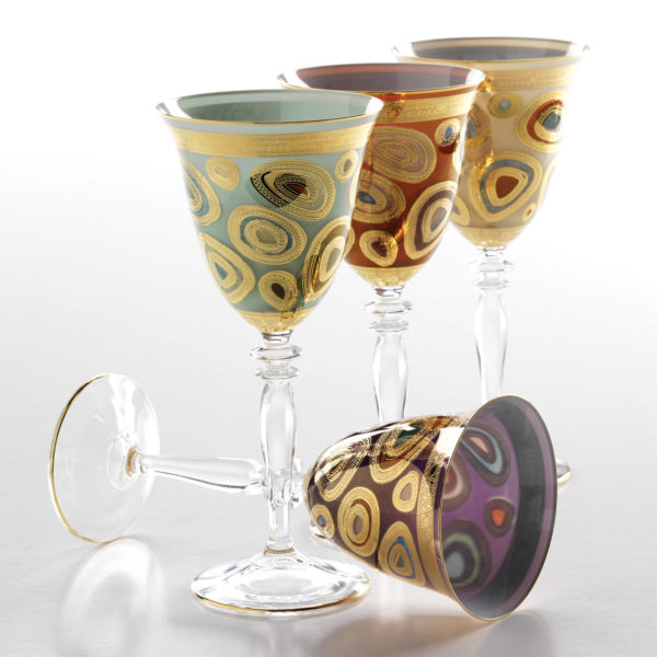 Vietri Regalia Wine Glass