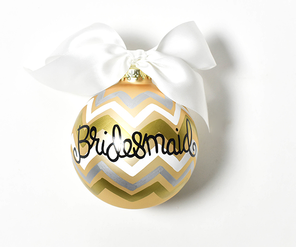 Coton Colors Bridesmaid Glass Ornament