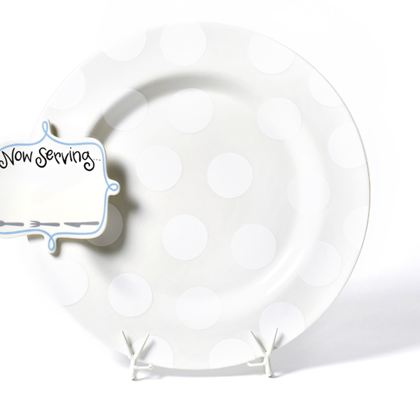 Happy Everything White Entertaining Big Platter