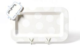 white dot entertaining platter