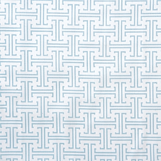 SERENA AND LILY TRELLIS CRIB SHEET – AQUA 2