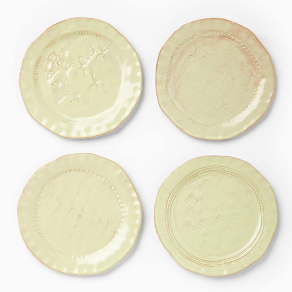 Vietri Bellezza Celadon Assorted Canape Plates