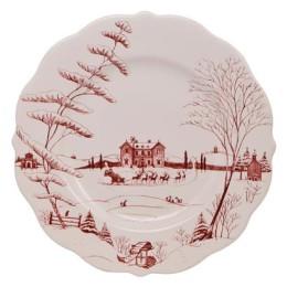 Juliska Country Estate Winter Frolic Scallop Dinner Plate
