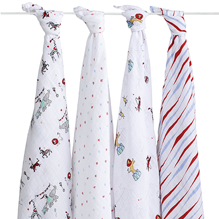 Aden + Anais Vintage Circus Swaddle 4 Pack