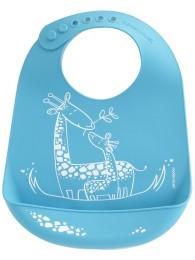 Bib  Giraffe Giggles Blue