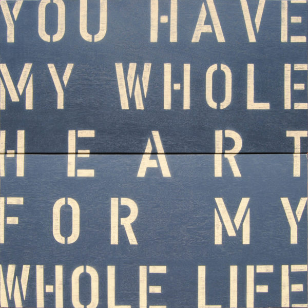 Sugarboo Charcoal Antique Sign- My Whole Heart