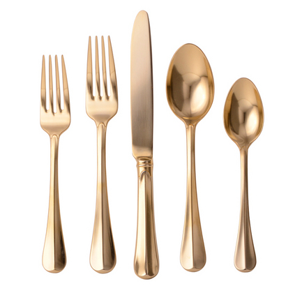 Juliska Bistro Gold Five Piece Placesetting