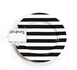 black stripe platter