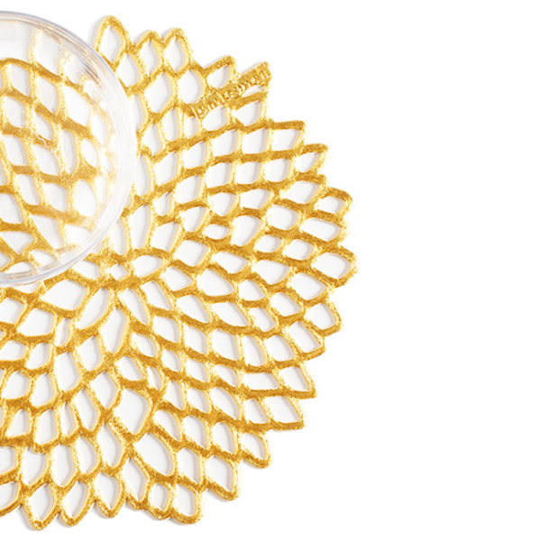 Dahlia Coaster Gold