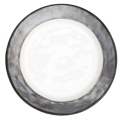 Juliska Emerson White/ Pewter Dinner Plate