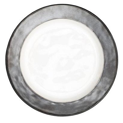 Juliska Emerson White/ Pewter Dinner Plate