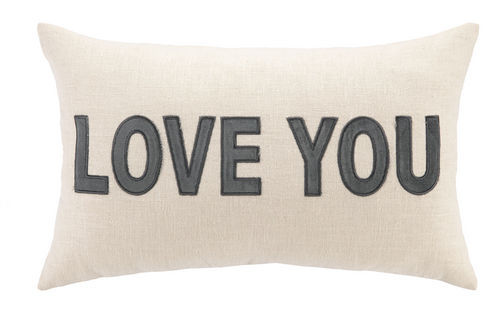 Love You Linen Pillow