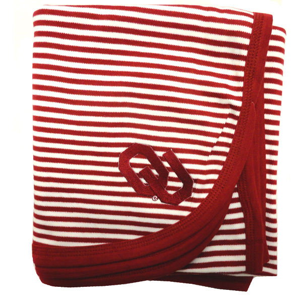 OU Striped Baby Blanket