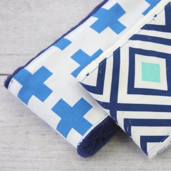 Retro Boy Burp Cloth Set