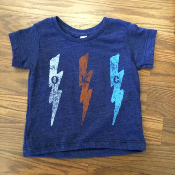 OKC Bolt Navy Kids' Tee