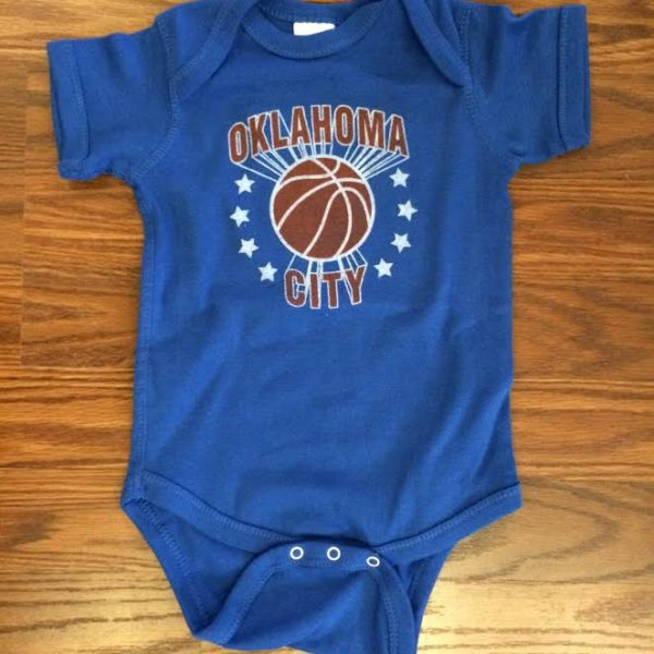 OKC BBall Stars Royal Blue Onesie