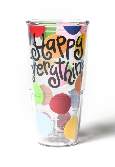 Happy Everything Bright Dot Tervis Tumbler Tulips