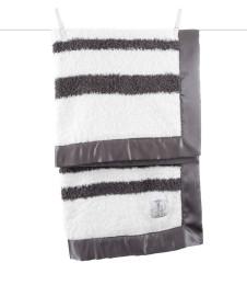 charcoal knit chenille stripe