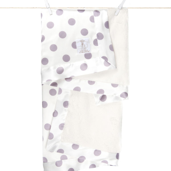 Little Giraffe Cream Dot Luxe Blanket
