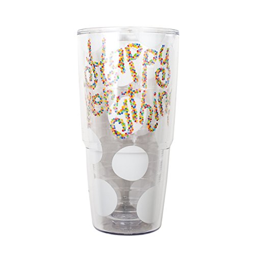 Happy Everything Big White Dot Tervis Tumbler