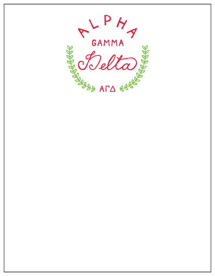 Sorority Mini Notepad