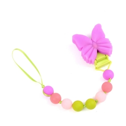 Chewbeads Butterfly Pacifier Holder