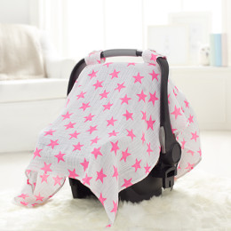 car seat canopy fluro pink