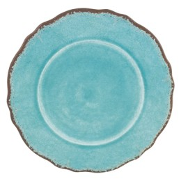antiqua turquoise dinner plate