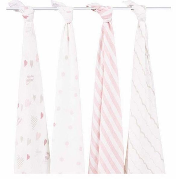 Aden + Anais Heartbreaker Swaddle 4 Pack