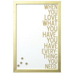 GOLD LOVE HAVE MAGNET BOARD