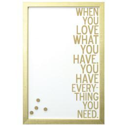 GOLD LOVE HAVE MAGNET BOARD