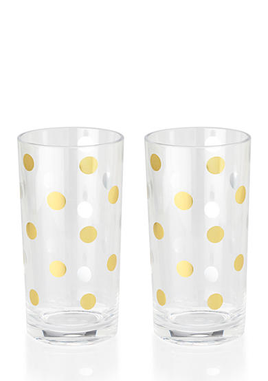 Kate Spade Gold Dot Acrylic Highball Set